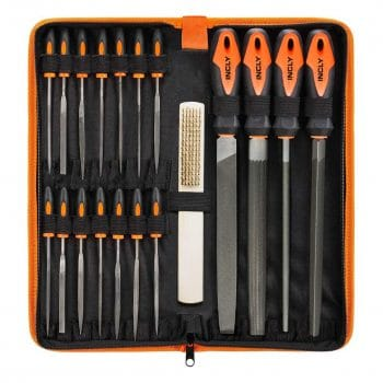 INCLY 19Pcs Metal Hand File Set