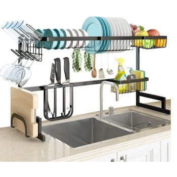 SLENPET Over the Sink Wall mounted Dish Drying Rack