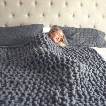 Chunky Knit Chenille Throw Blanket
