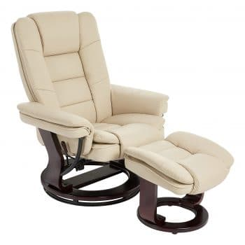 JC Home Argus Swivelling Recliner and Ottoman