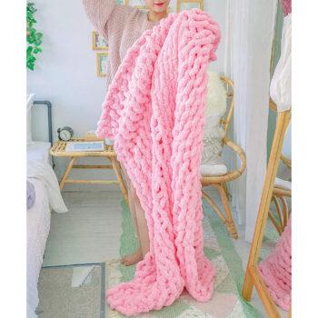 La Reine Chunky Knit Blanket Chenille