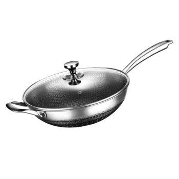 KYTD Nonstick Stainless Steel Stir Fry Pan