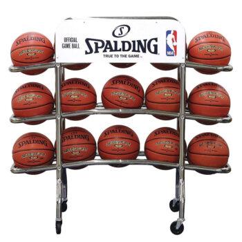 Spalding Replica Pro Chrome Steel Tubing Basketball Rack