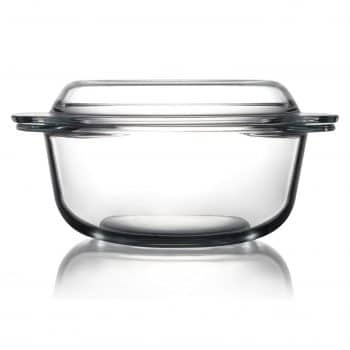 ZVER Clear Round Glass Baking Dishes