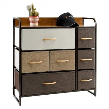 Kamiler 7-Drawer Dresser, 3-Tier Storage Organizer