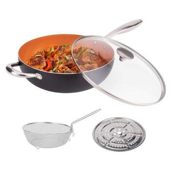 MICHELANGELO Nonstick 5-Quart Pan