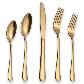 Berglander Titanium Gold Plated Flatware Set 20 Pieces
