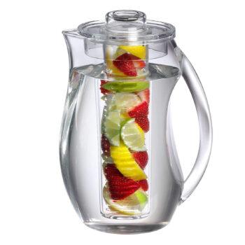 Prodyne Fruit Infusion Flavor Pitcher, 2.9 Quart Clear, 93 OZ