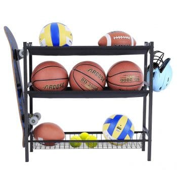 Mythinglogic Black Steel Basketball Rack