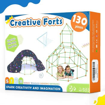 Tiny Land 130 Pieces Creative Fort Building Kits