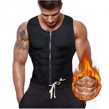 Gowhods Waist Sauna Trainer Sweat Vest for Men