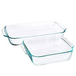 Pyrex Basics Clear Glass Baking Dishes