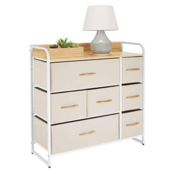 mDesign Wide Dresser Storage Chest of Drawers