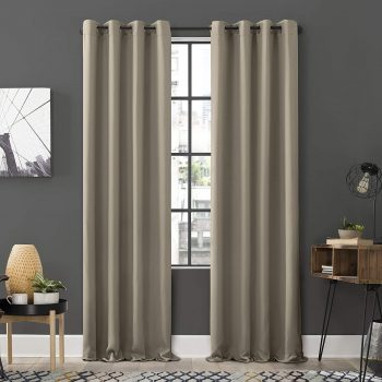 Sun Zero Soho 2-Pack Blackout Grommet Curtain