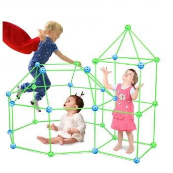 HLAOLA 88pcs Kids Fort Building Kit