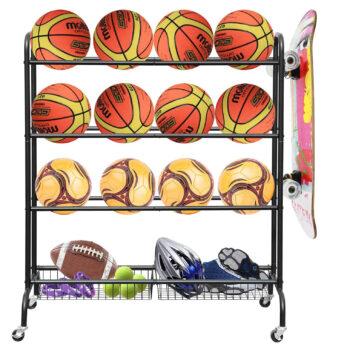 LUDING Rolling Basketball Rack