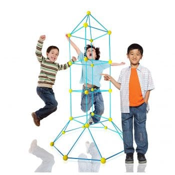 LimitlessFunN 81 Pieces STEM Blue-Yellow Fort Building