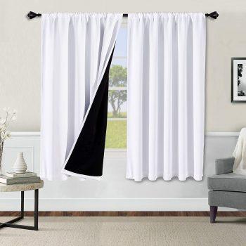 WONTEX 100% Noise Reducing Blackout Curtains