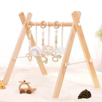 HAN-MM Wooden Baby Gym