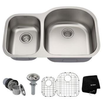Kraus KBU25 32 inch Double Stainless Steel Kitchen Sink