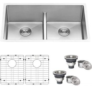 Ruvati 32-inch Low-Divide Double Kitchen Sink