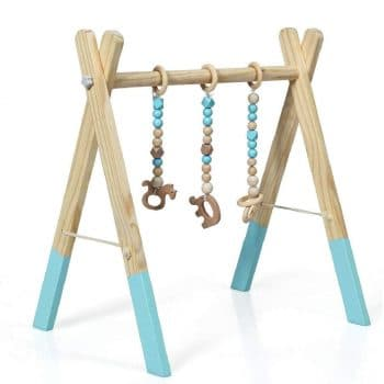 BABY JOY Portable Wooden Baby Gym
