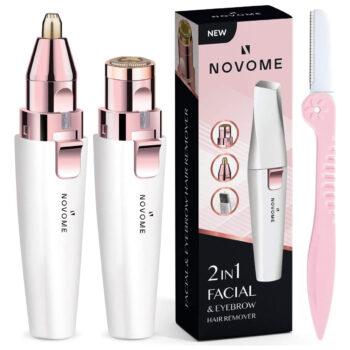 NOVOME 2in1 Facial Hair Remover & Eyebrow Trimmer