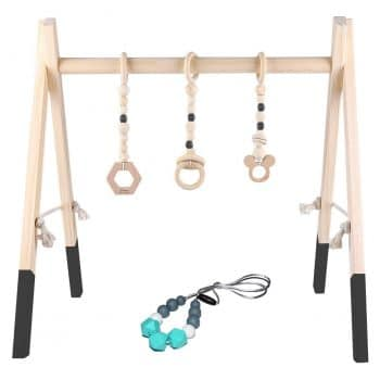 GOZYE Wooden Baby Play Gym