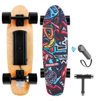 WOOKRAYS 3 Speed Adjustment Electric Skateboard