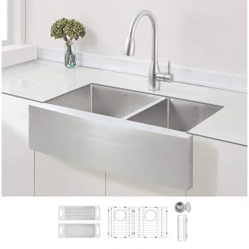 ZUHNE 33-Inch Stainless Steel Double Kitchen Sink