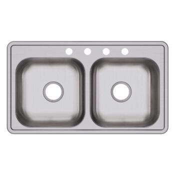 Elkay D233194 Double Bowl Drop-in Stainless Steel Sink