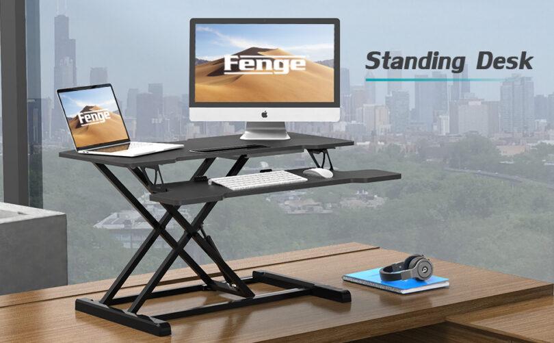 Height Adjustable Standing Desk Mount