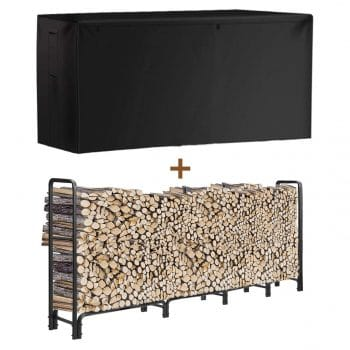 No Brand 8Ft Firewood Rack Outdoor