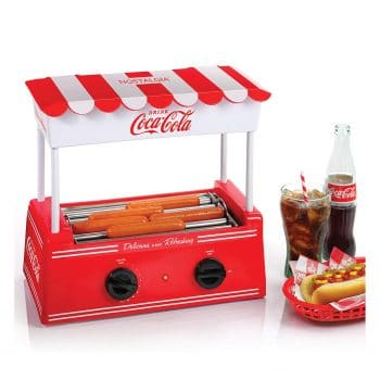 Nostalgia's HDR565COKE Hot Dog Roller