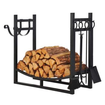 Patio Watcher 3-Foot Firewood Rack Wood Storage