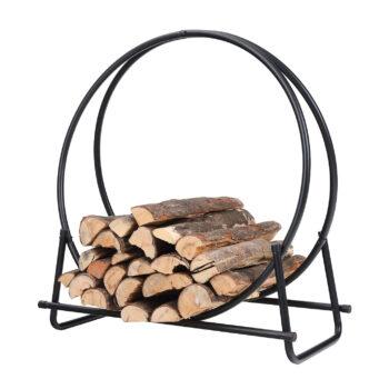 PHI VILLA 30 Inch Hoop Firewood Rack