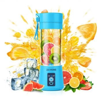 Zjj-Home Smoothie Portable Small Blender-Six Blades in 3D