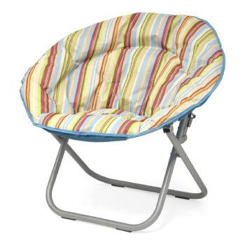 Urban Shop Cabana Stripes Saucer Chair