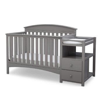Delta Children Convertible Crib & Changer, Grey