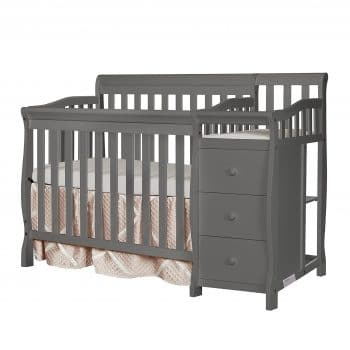 Dream on Me 4-in-1 Convertible Crib & Changer, Storm Grey