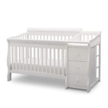 Delta Children Convertible Crib & Changer, Bianca White