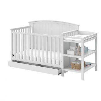 Storkcraft Steveston Convertible Crib & Changer, White