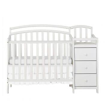 Dream On Me 3-in-1 Crib and Changing Table, White