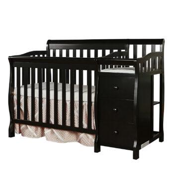 Dream On Me Convertible Crib & Changer, Black