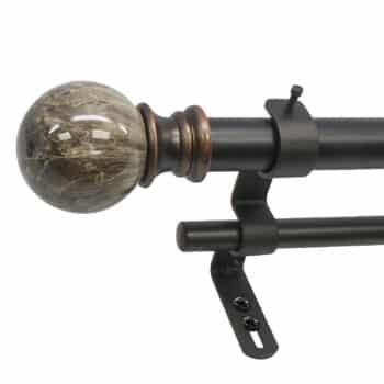 Decopolitan 30023-36BR Drapery Rod Set