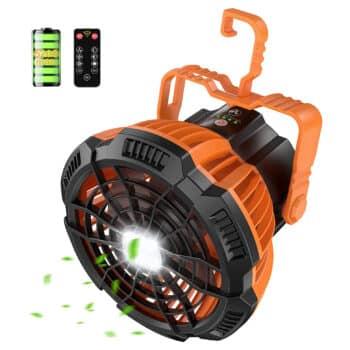 RUNACC Camping Fan with LED Lantern