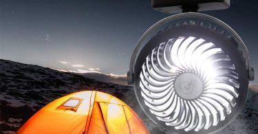Camping Fans with LED Lanterns