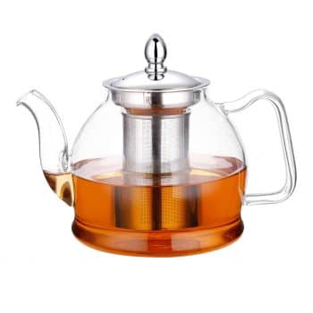 Hiware Glass Teapot with a Removable Infuser