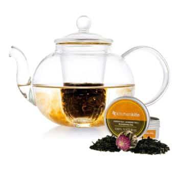 Kitchen Kite Glass Teapot, Microwave & Dishwasher safe