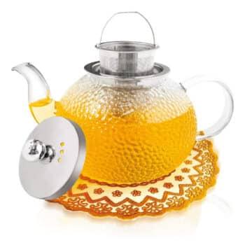 Sybom 1000ml Glass Teapot, Heat-Resistant